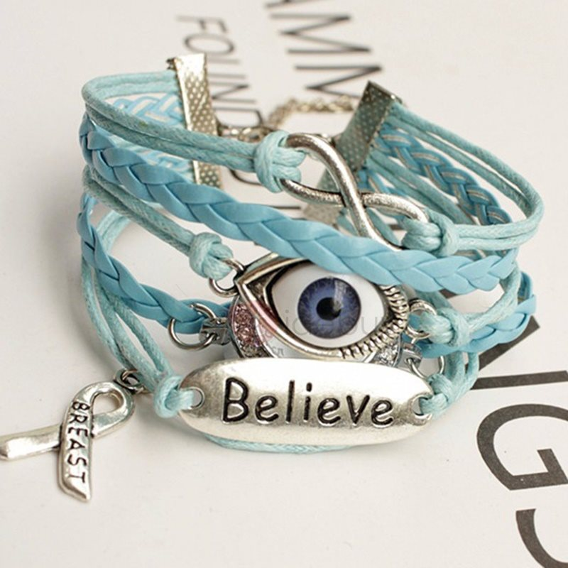 Multilayer Eye Design Blue Bracelet Watch