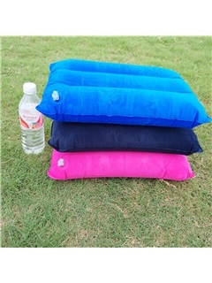 Pure Color Inflatable Portable Outdoor Pillow