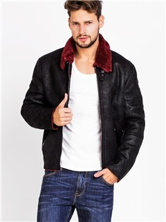 Fleece Solid Color Men's Causal Zip Jacket