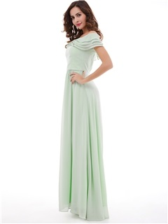 Delicate Off-The-Shoulder A-Line Long Prom Dress