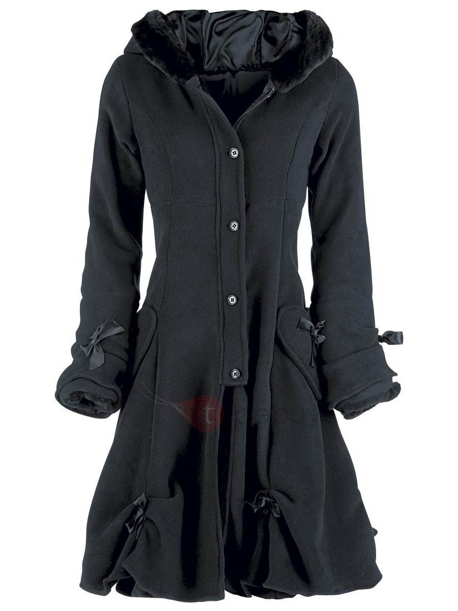 Stylish Single-Breasted A Line Hooded Overcoat