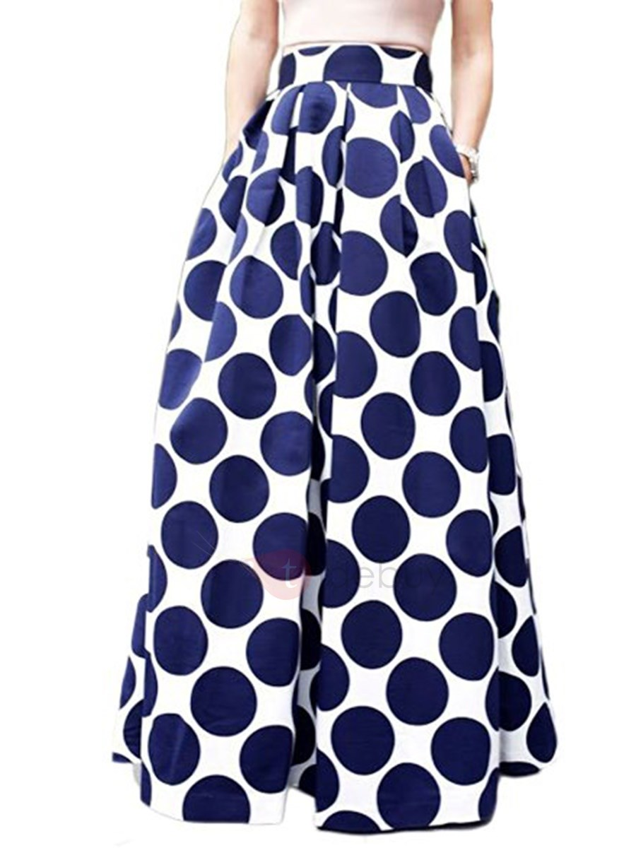 High Waisted Flower Print Women's Skirts (Plus Size Available)