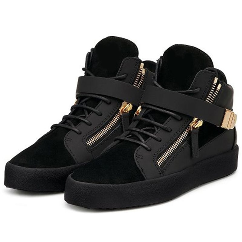 PU Plain Round Toe High-Cut Upper Mens Sneakers фото