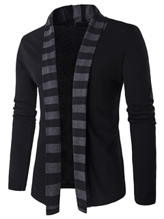 Bold Stripe Men's Causal Cardigan Sweater
