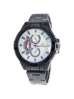 Gear Dial Design Steel Strip Men's Quartz Watch