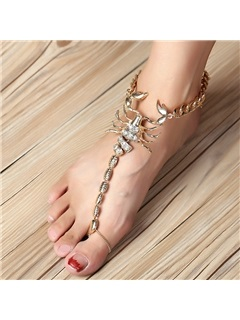 Scorpion Design Personality Alloy Diamante Anklet