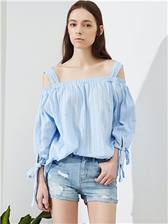 Stylish Off Shoulder Bowknot Blouse