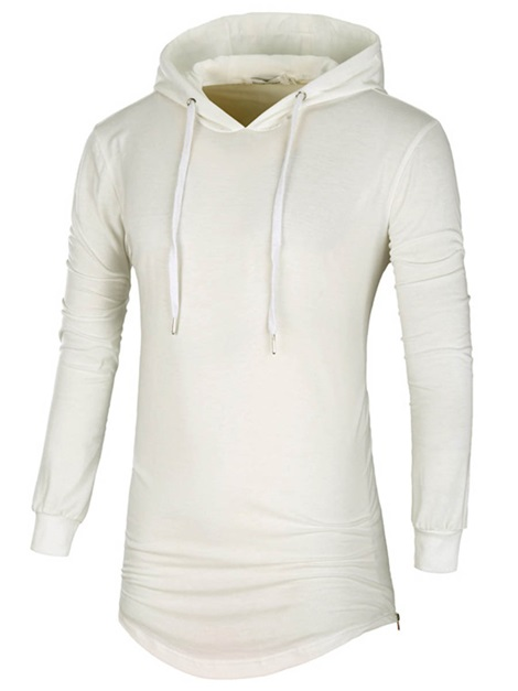 Mid-length Simple Lace-up Men's Fashion Hoodie