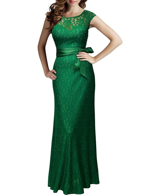 Sleeveless Vogue Lace Women's Maxi Dress