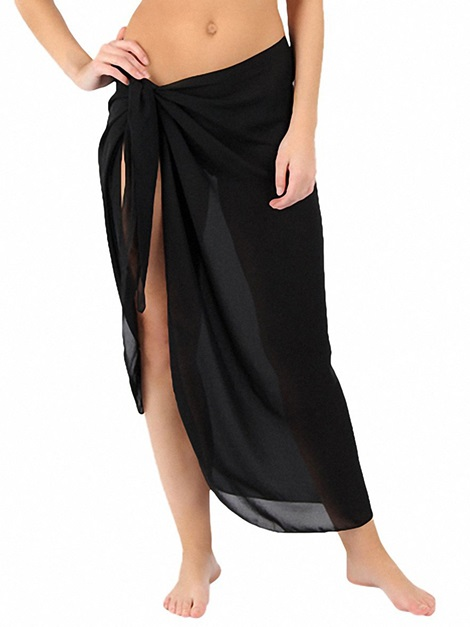 Plain Ankle-Length Beach Skirt