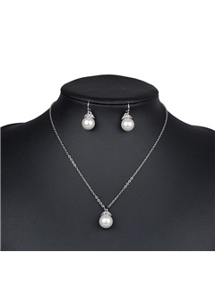 Pearl s Link Chain Pure Simple Korean Wedding Jewelry Sets 1