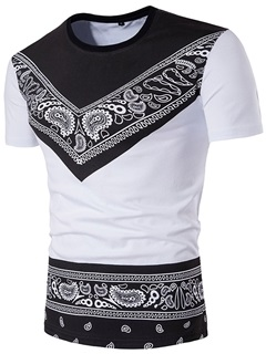 Round Neck Unique Print Men's T-Shirt