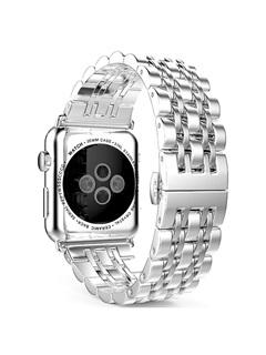 Personality Smart Watch Stainless Steel Band Butterfly Buckle Chain Style for Apple Watch Series 1/2 Iwatch 13