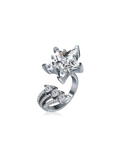 Star Stainless Steel Zircon Inlaid Ringent Rings 1