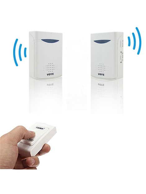 Wireless Remote Doorbell V006B2 With 38 Songs Alarms Easy Install