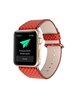 For 38mm/42mm Apple Iwatch Smart Watch Tech Leather Strap 10