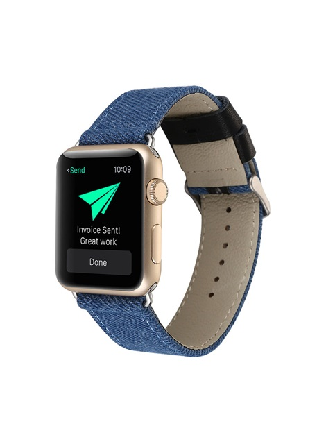 Denim Pattern Smart Watch Strap for 38mm/42mm Apple Iwatch Smartwatch Tech