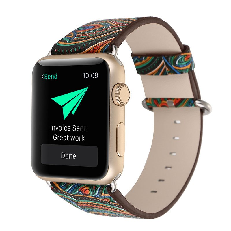 Chinese Style Pattern Smartwatch Strap for 38mm/42mm Apple Iwatch Smart Watch Tech