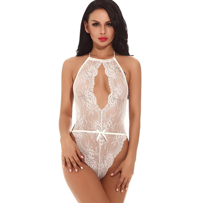 Sexy Bodysuit Lace Cutout Teddy