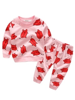 Cute Cartoon Pig Pattern Baby's 2-Piece Outfit