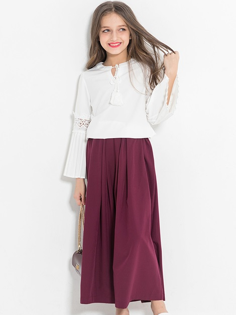 Stylish Tassel Hollow Loose Girl's Outfit