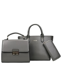 Occident Style Solid Color Three Bag Set