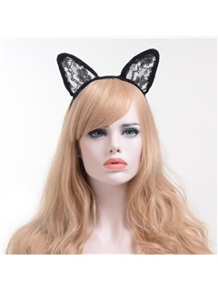 Sexy Lace Cat Ear Halloween Ball Prom HairBands 2