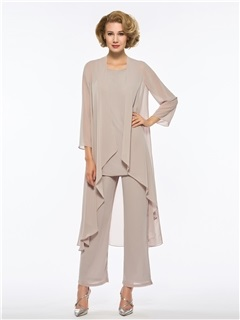 Loose 3 Pieces Mother of the Bride Pantsuits with Jacket 37