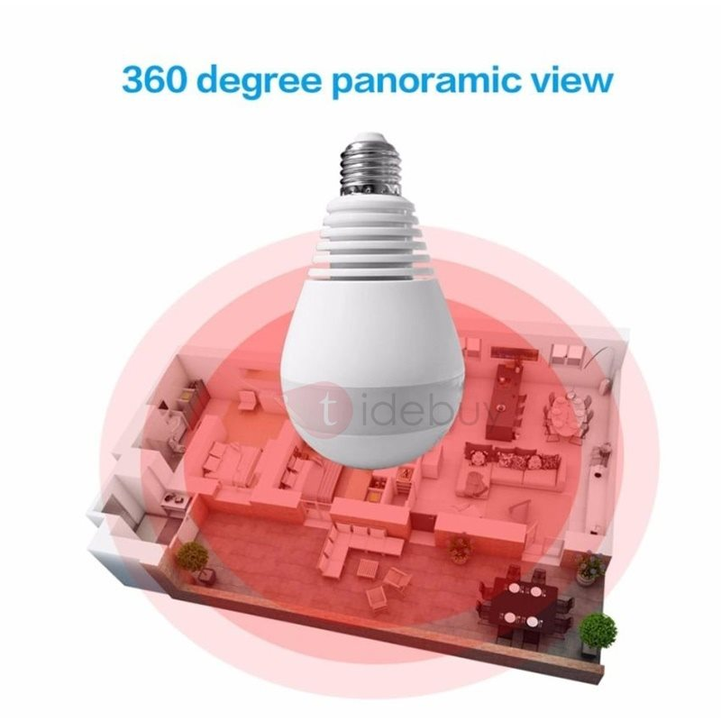 V380 960P Wireless IP Cameras LED 360 Degree Panoramic White Light Bulb Surveillance Camera for Home Security 13016008