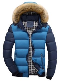 Tidebuy Hooded Solid Color Thick Men's Winter Jacket 21