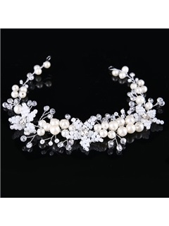 New Style Pearl Imitation Diamond Bride's Wedding Hair Accessories 1
