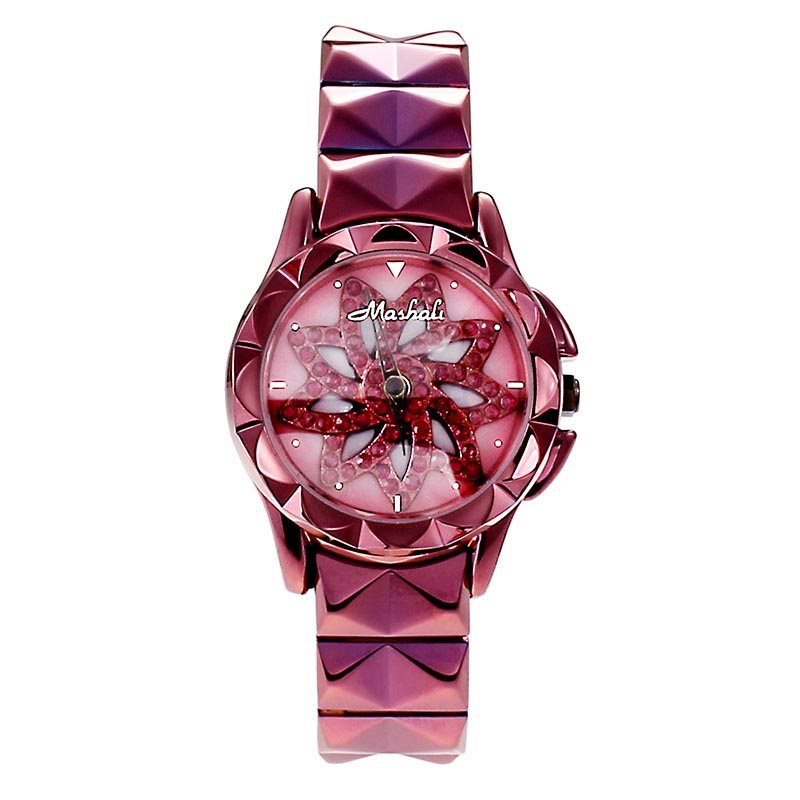 Ultra Violet Stylish Flower Design Stainless Steel Womens Watches фото