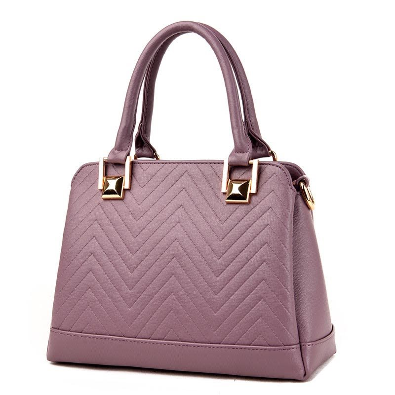Image of All Match Solid Color PU Women Satchel