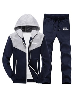 Tidebuy Color Block Hooded Men's Outfits 2