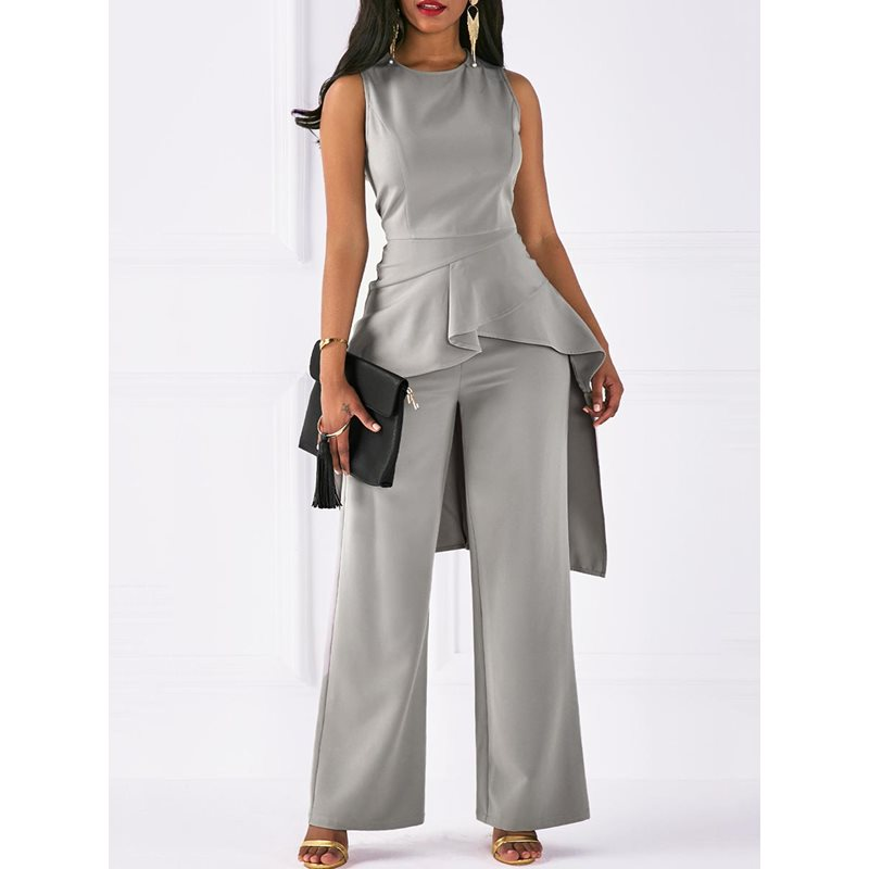 Full Length Slim Plain Womens Jumpsuit