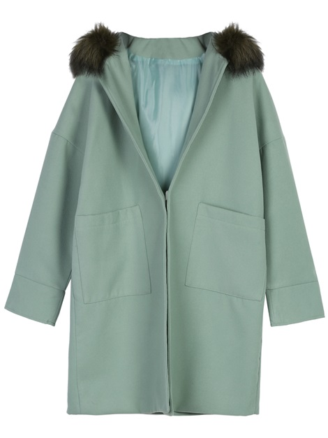 Tidebuy Hooded Mid-Length Women's Overcoat