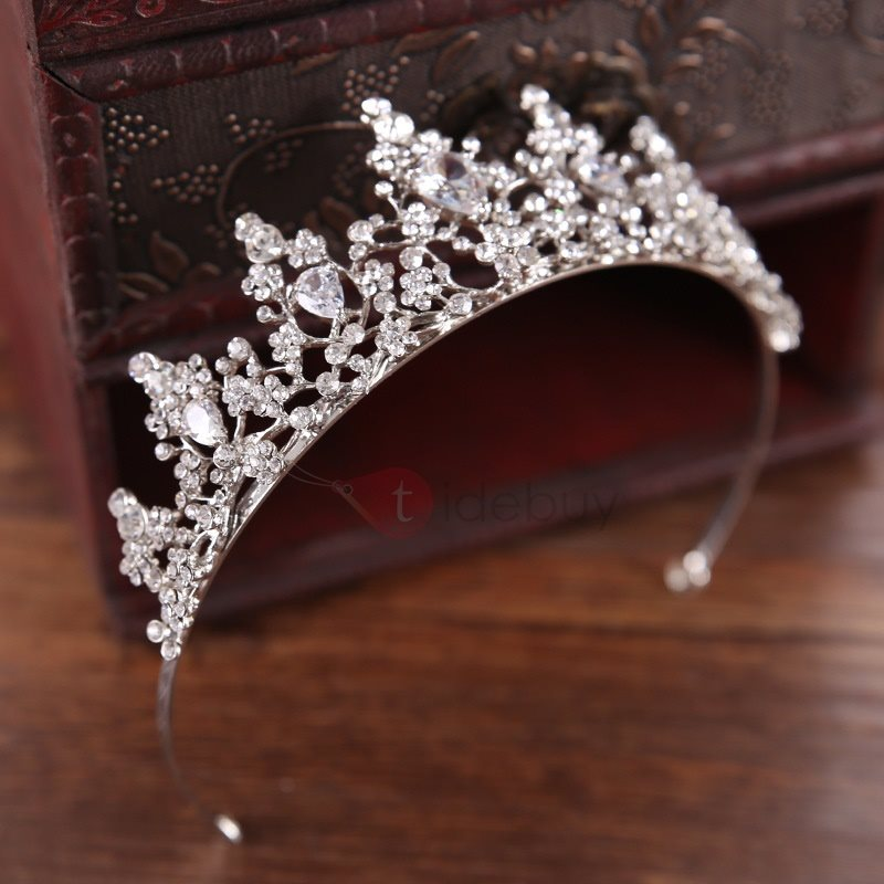 Image of Hot Sale Rhinestone Crown Design Brides Hair Tiara