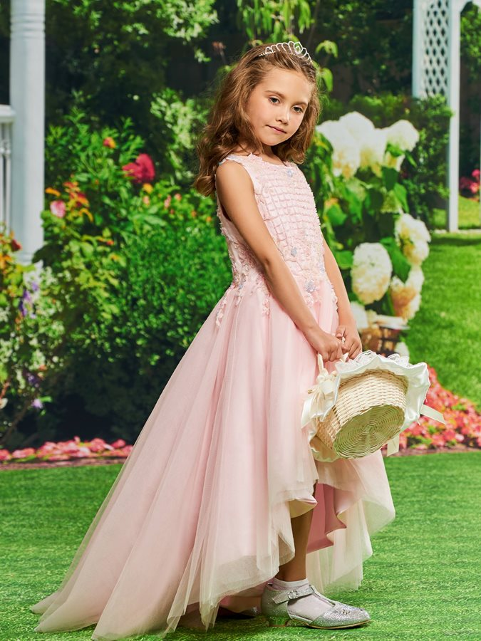 Beaded Appliques Girls Party Dress
