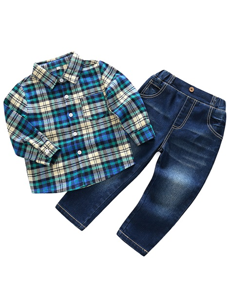Plaid Shirt with Jeans Baby Boys' Outfit