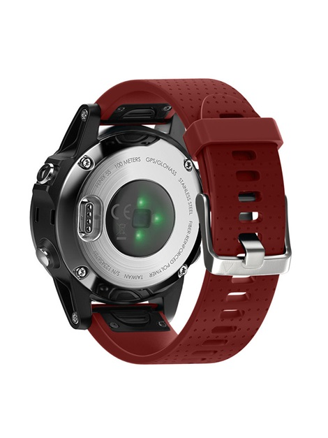 Garmin Fenix 5S Band Replacement, 20mm Width Easy Fit Soft Silicone Strap with Metal Buckle for Men Boys