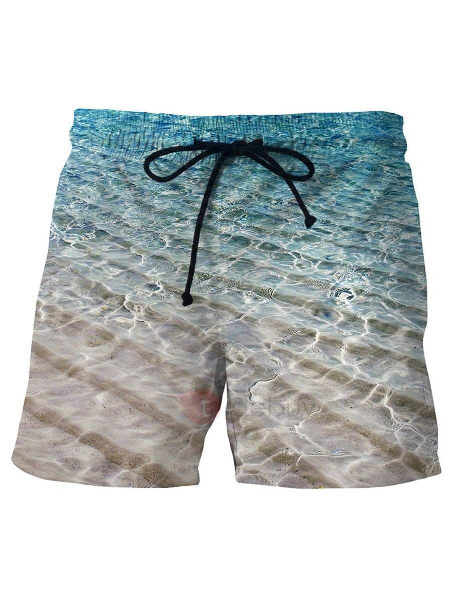Image of Tidebuy Sea Wave 3D Print Mens Board Shorts