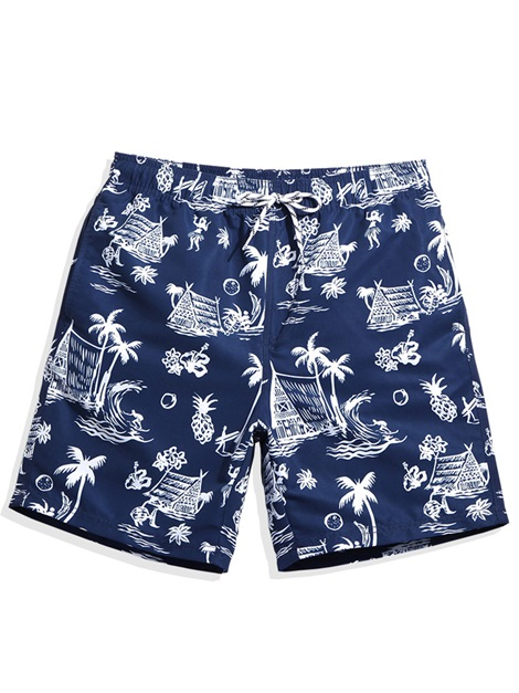 Tidebuy Summer Print Quick Dry Men's Board Shorts