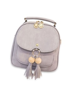 Korean Style Tassel Decoration Women Backpack