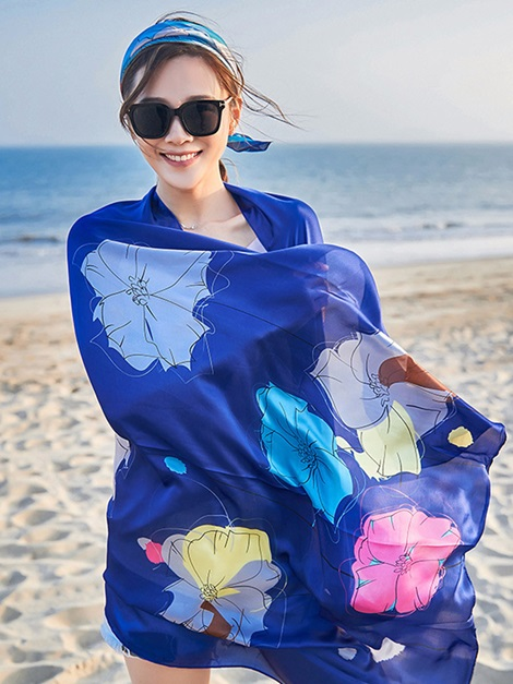 Plant Floral Rectangle Beach Cover Ups