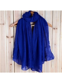 Overlength Solid Color Lighter Beach Scarf