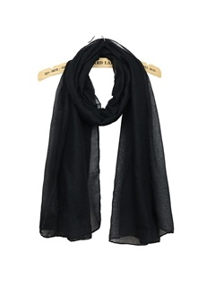 Overlength Pure Color Cotton Beach Scarf