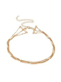 Simple Bamboo Chain Design Multi-layer Necklace