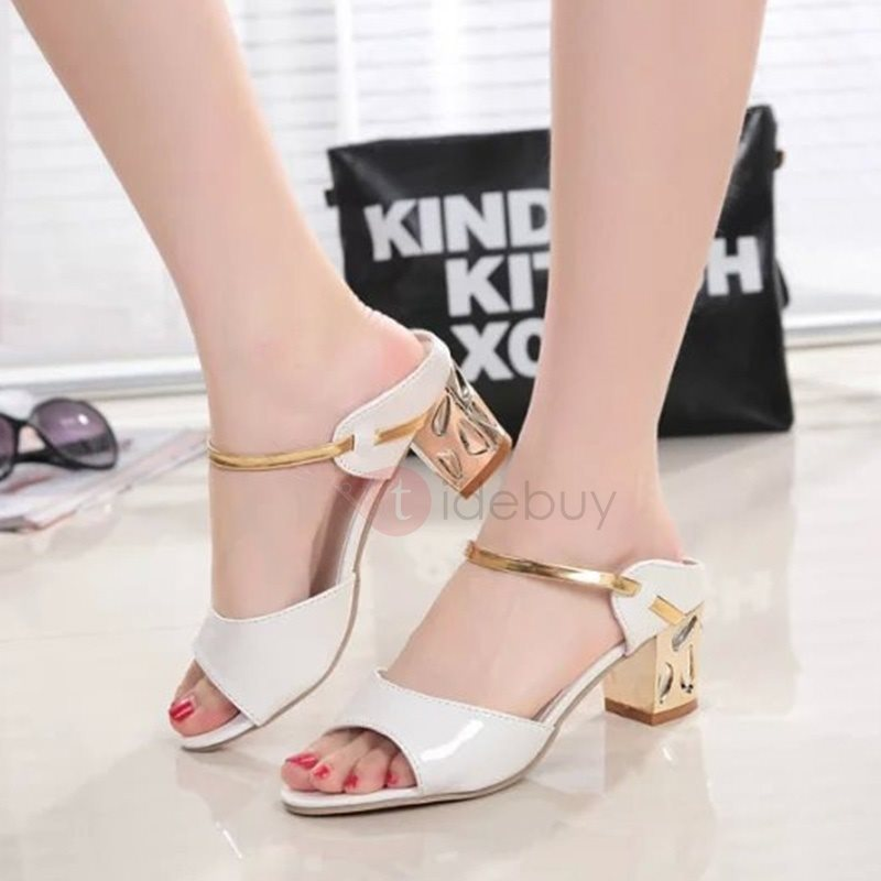 Slip On Thick Heel Flip Flop Women's Summer Shoes