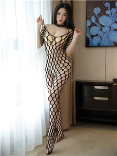 Big Fishnet Off-Shoulder Sexy Pantyhose Body Stocking 1