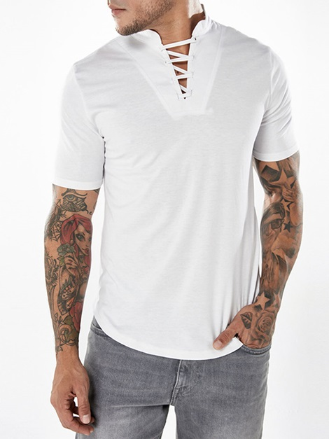 Tidebuy V-neck Plain Short Sleeve Men's T-shirt